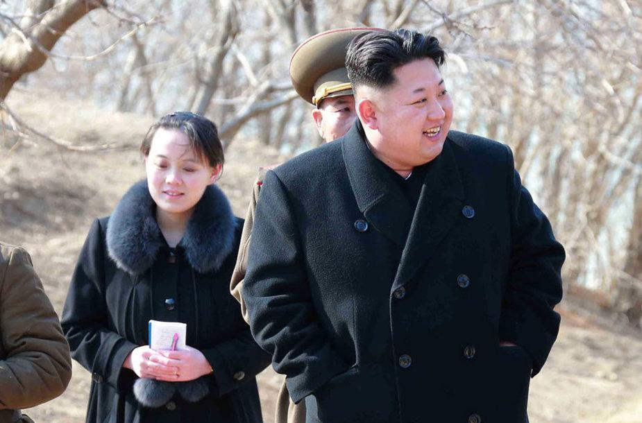 Kim Yo Jong ir Kim Jong Unas