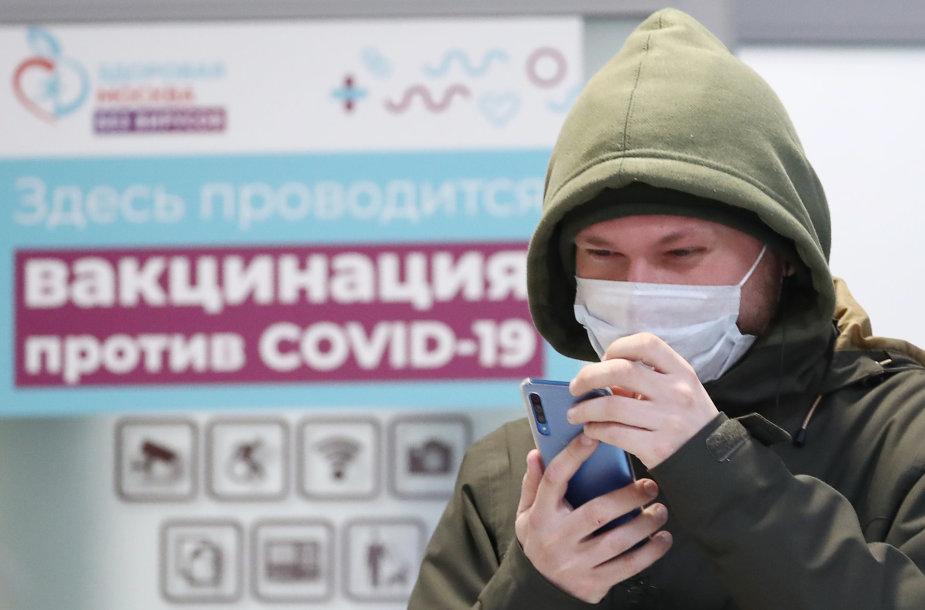 Vakcinacija nuo koronaviruso Maskvoje