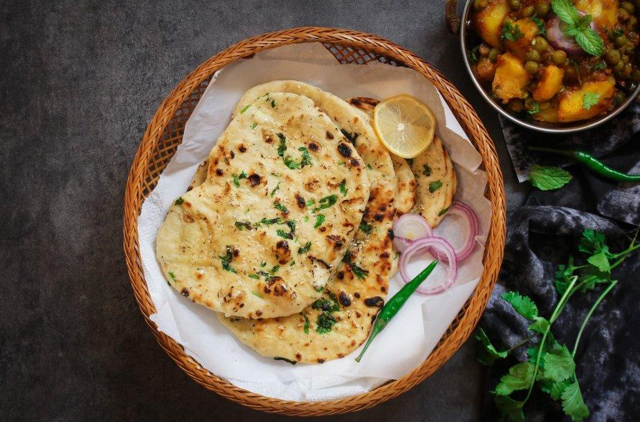 Indiško stiliaus plokščia duona