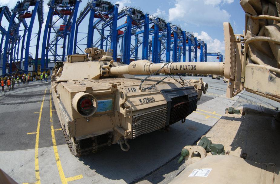 JAV karinė technika Klaipėdoje