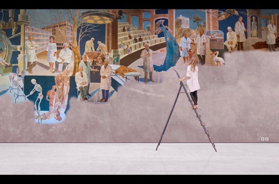 """Kadras iš filmo """"Bejėgis vaistas"""", (rež. Milda Januševičiūtė ir Miša Skalskis, 2019 m.)"""