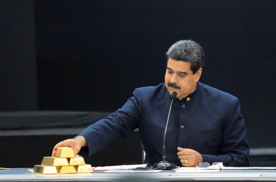 Nicolas Maduro liečia aukso luitus