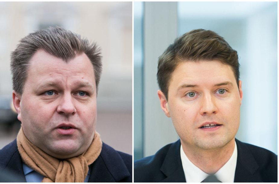 Mantas Adomėnas ir Mykolas Majauskas