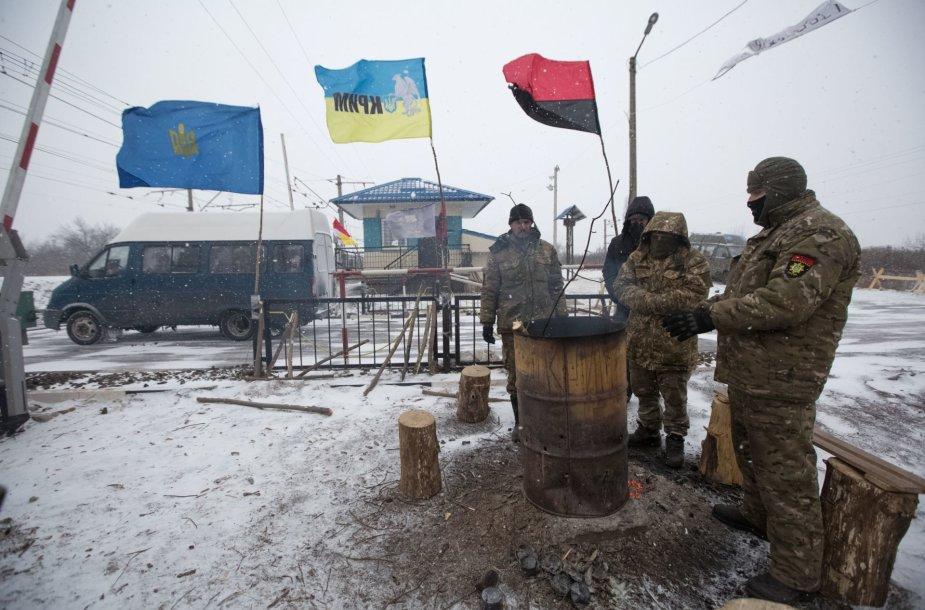 Geležinkelio bėgių į Rytų Ukrainą blokada