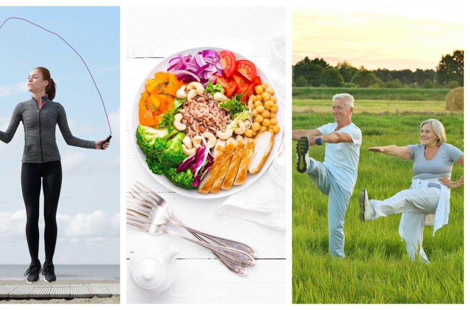 Sveika mityba ir fizinis aktyvumas garantuoja ne tik gerą fizinę, bet ir psichinę sveikatą