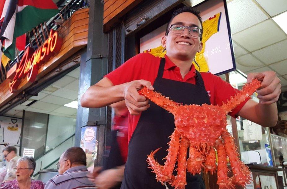 Santjago centrinis turgus: įspūdingas krabas