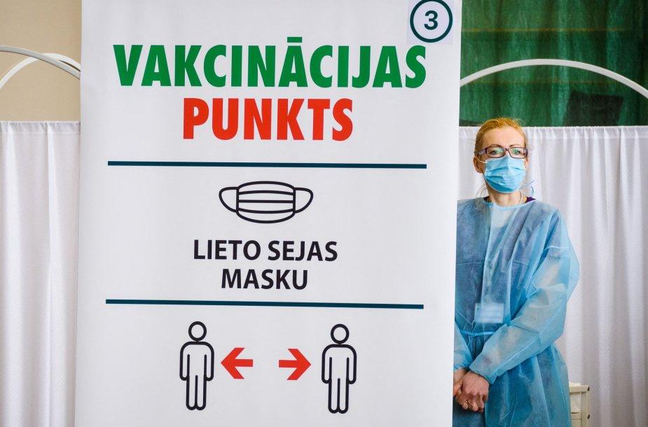 Vakcinavimas nuo koronaviruso Latvijoje