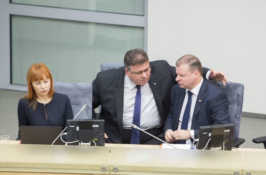Jurgita Petrauskienė, Linas Antanas Linkevičius ir Saulius Skvernelis