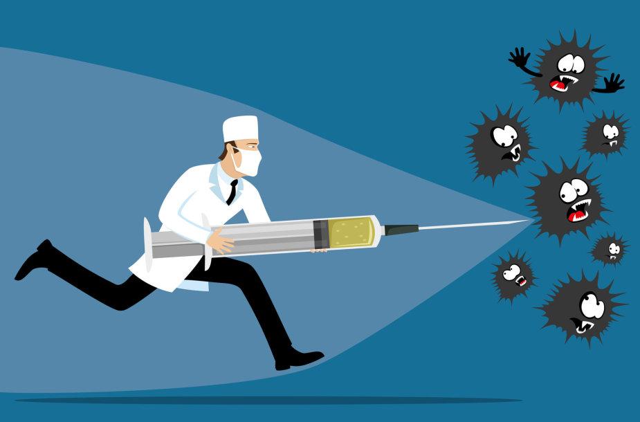 Kai kurias ligas suvaldyti galima tik dėl vakcinų