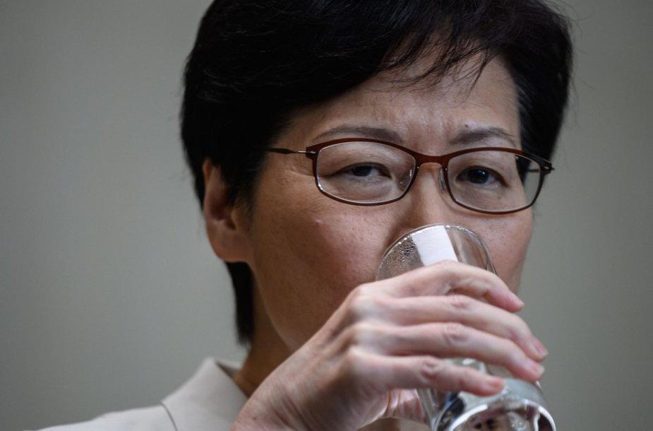 Honkongo vadovė Carrie Lam