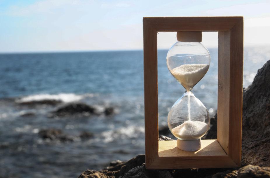Smėlio laikrodis.