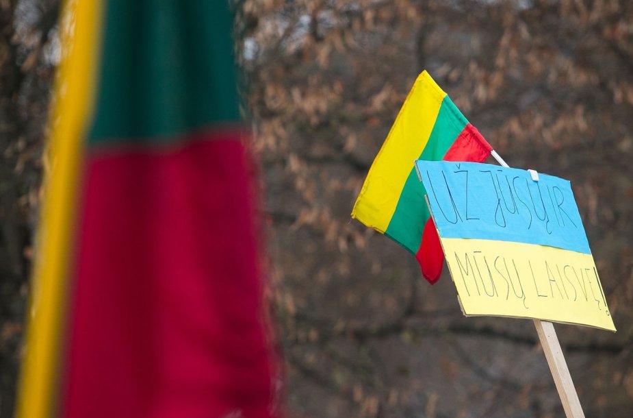 """Pievai priešais Rusijos ambasadą neoficialiai suteiktas """"Euro Maidano"""" vardas."""