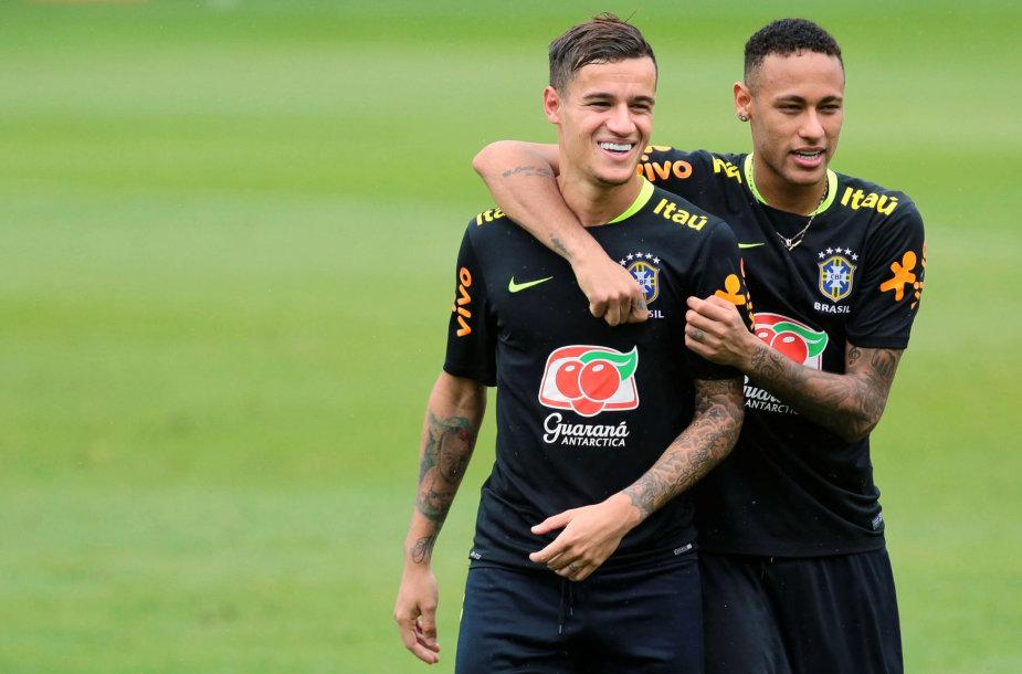 Philippe Coutinho ir Neymaras