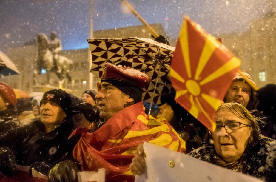 Protestas Makedonijos sostinėje Skopjė