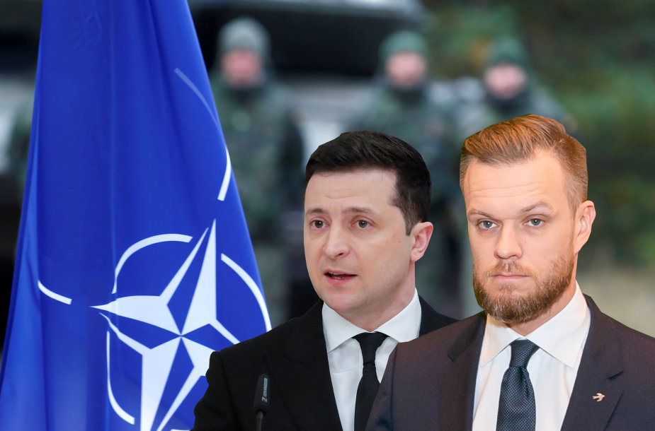 Gabrielius Landsbergis ir Volodymyras Zelenskis