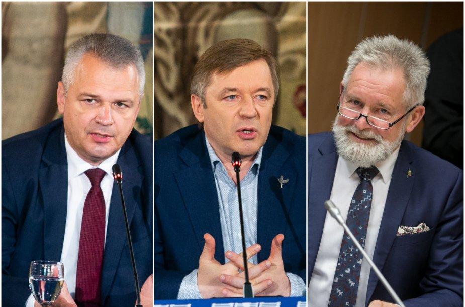Vigilijus Jukna, Ramūnas Karbauskis ir Algirdas Sysas