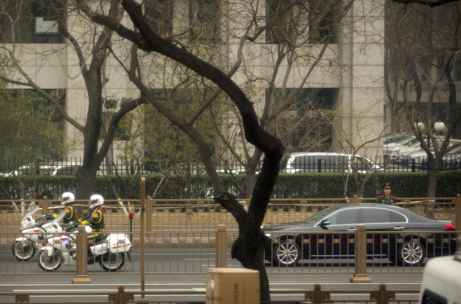 Automobilis, kuriuo į Kiniją galbūt atvyko Kim Jong Unas