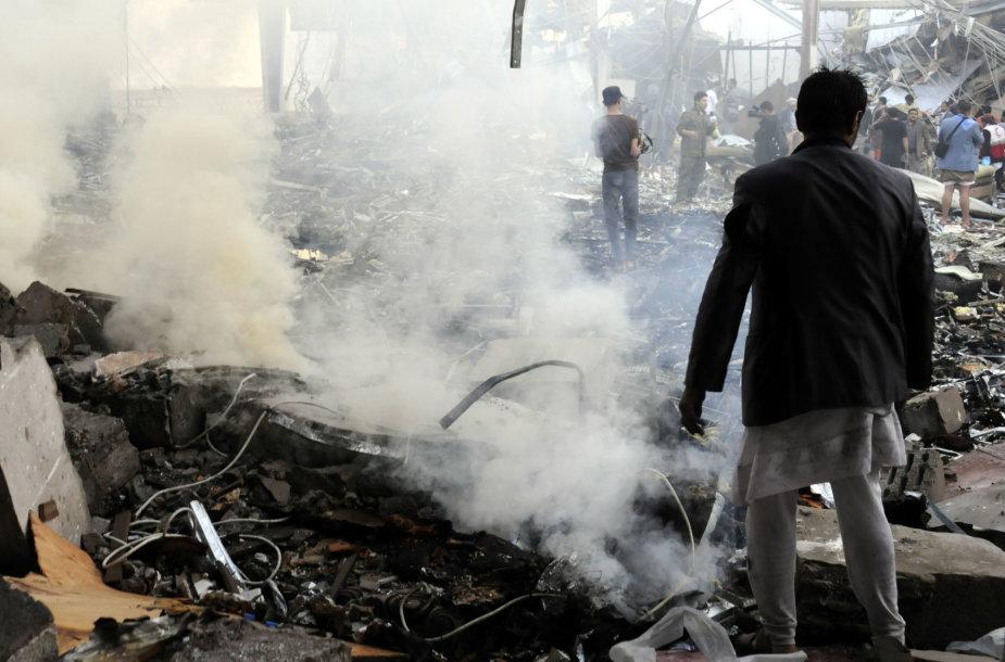 Po oro smūgių Jemene