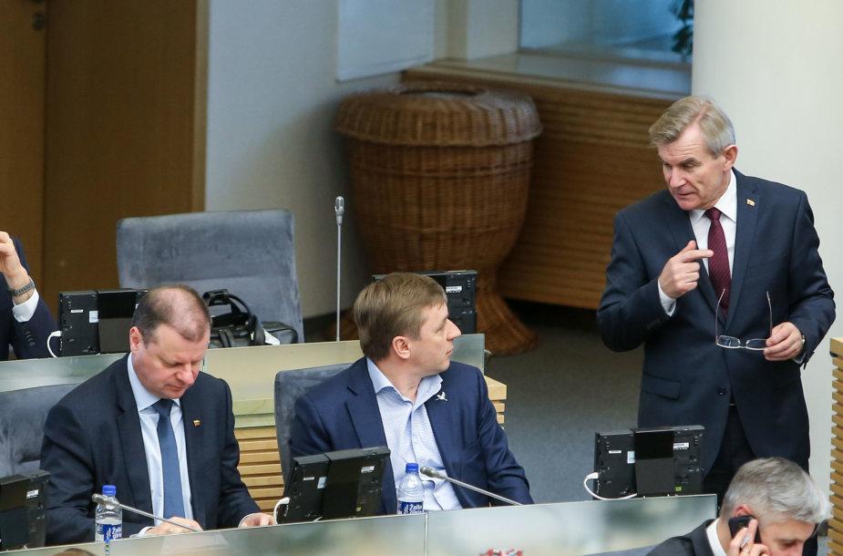 Saulius Skvernelis, Ramūnas Karbauskis, Viktoras Pranckietis