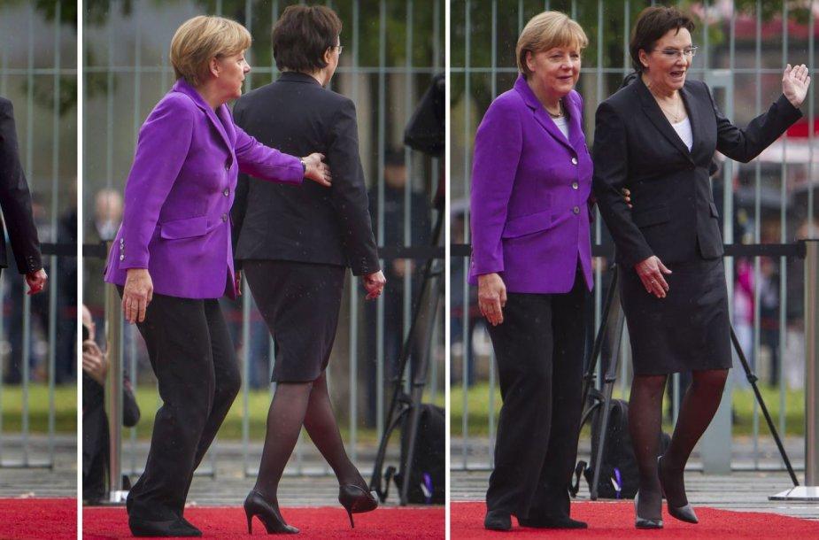 Lenkijos premjerės Ewos Kopacz skandalingas vizitas Berlyne