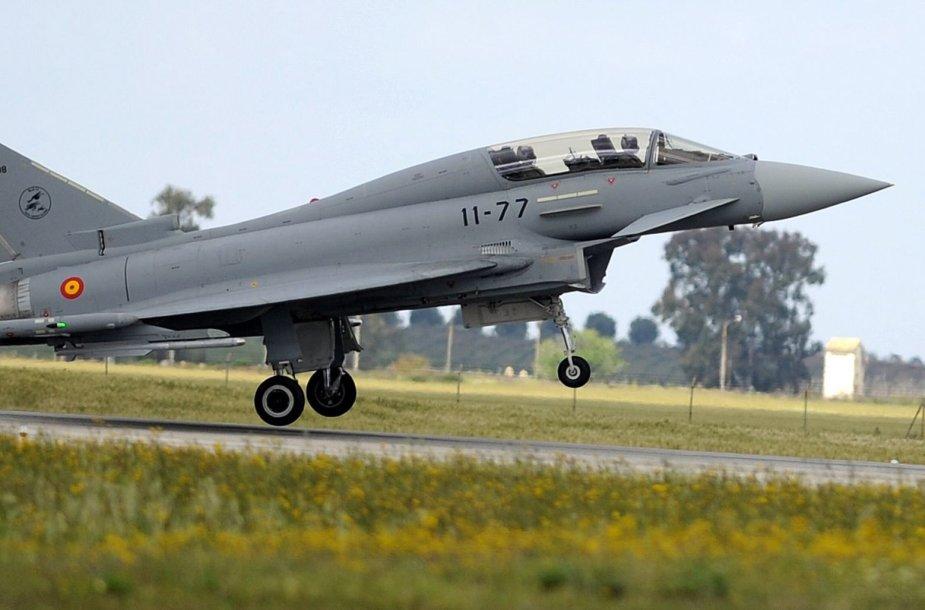 """Ispanijos karo lėktuvas """"Eurofighter"""""""
