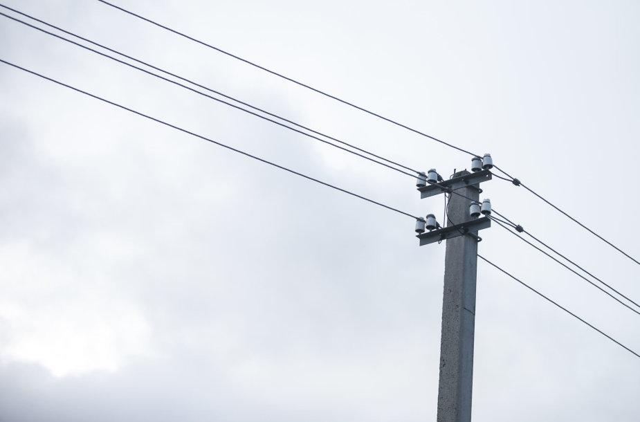 Elektros laidai prie nuosavų namų