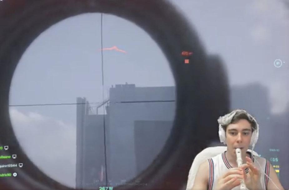 """""""DeanBeano"""" """"Battlefield 2042"""" žaidė su fleita"""
