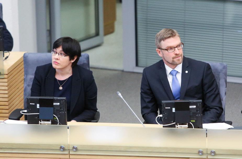 Edita Žiobienė ir Linas Kukuraitis