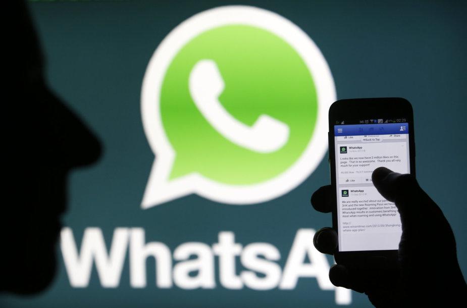 """""""WhatsApp"""" žinutes savo artimiesiems rašo kas septintas pasaulio gyventojas"""