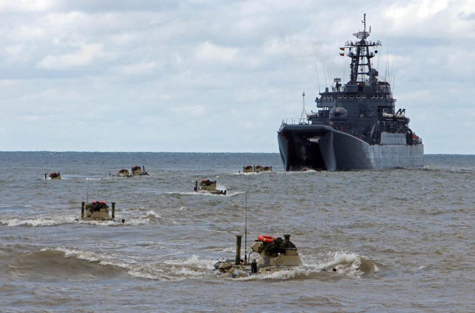 Karinės pratybos Kaliningrado srityje