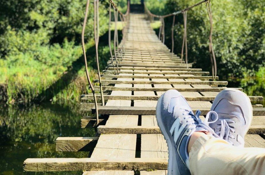Siūbuojantis beždžionių tiltas per Jūros upę