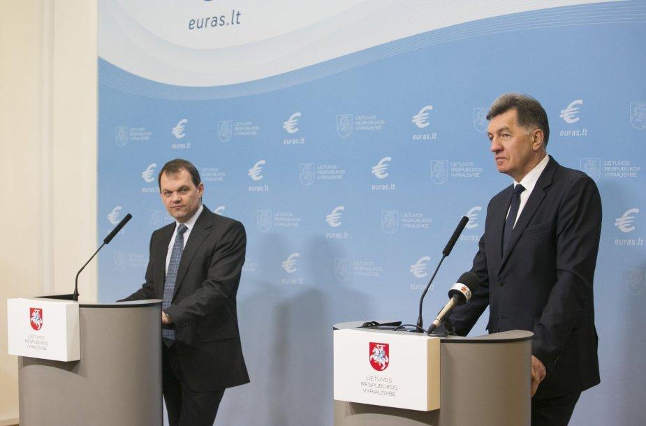 Algirdo butkevičiaus ir TVF misijos Lietuvoje vadovo Christopho Klingeno spaudos konferencija.