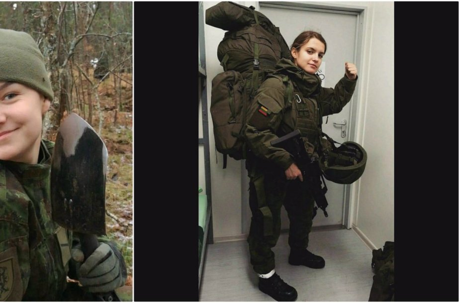 Lietuvos kariuomenėje šauktinei savanorei Darijai netrūko nei emocijų, nei išbandymų