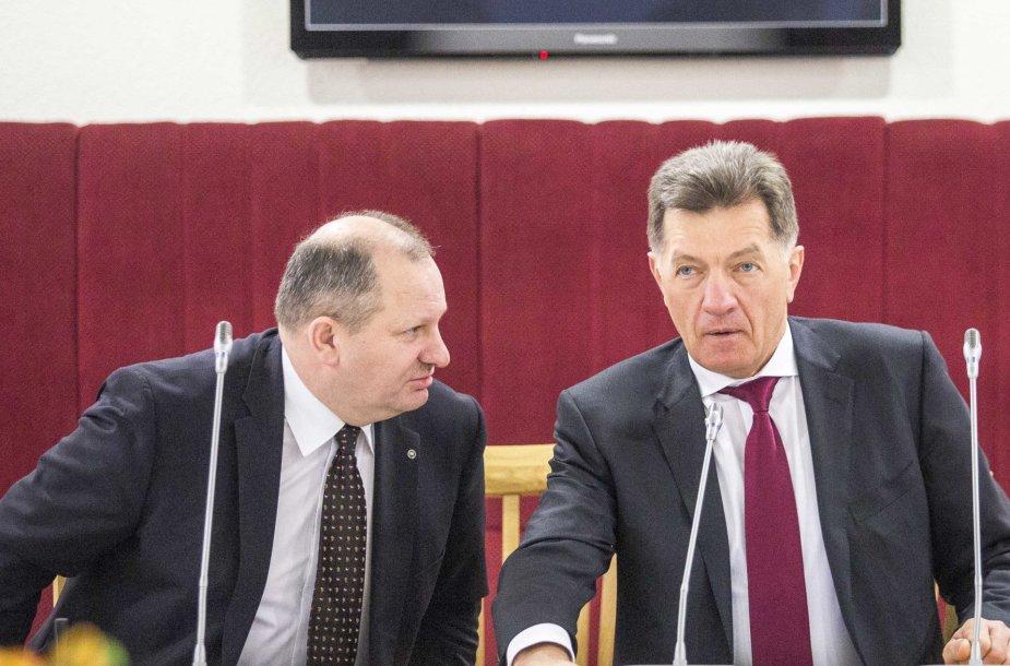 Kęstas Komskis ir Algirdas Butkevičius