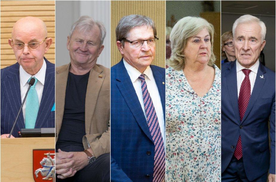 Antanas Vinkus, Kęstutis Glaveckas, Eugenijus Jovaiša, Rimantė Šalaševičiūtė ir Dainius Kepenis
