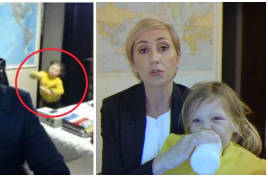 Vaikų pertraukto BBC interviu parodija