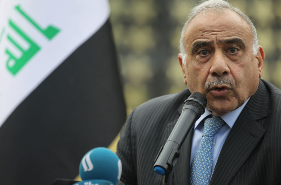 Irako premjeras Adelis Abdel Mahdi