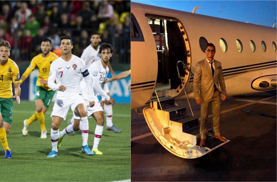 C.Ronaldo liko papildomai nakčiai Vilniuje