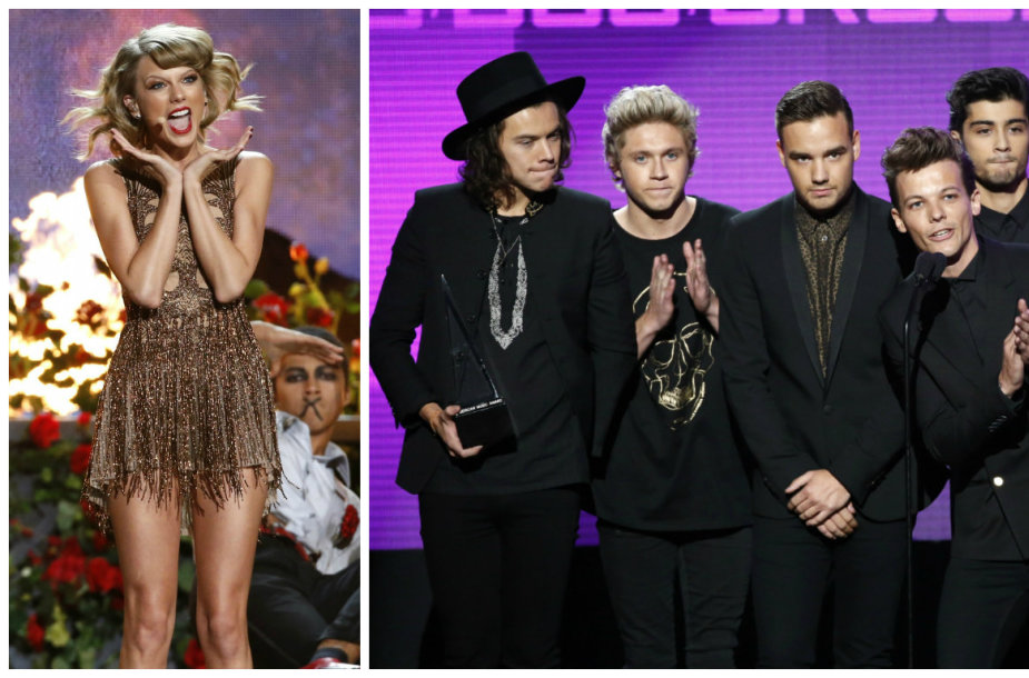 "Taylor Swift, ""One Direction"" ir Ariana Grande"