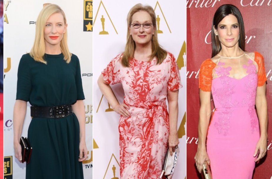 Amy Adams, Judi Dench, Cate Blanchett, Meryl Streep ir Sandra Bullock