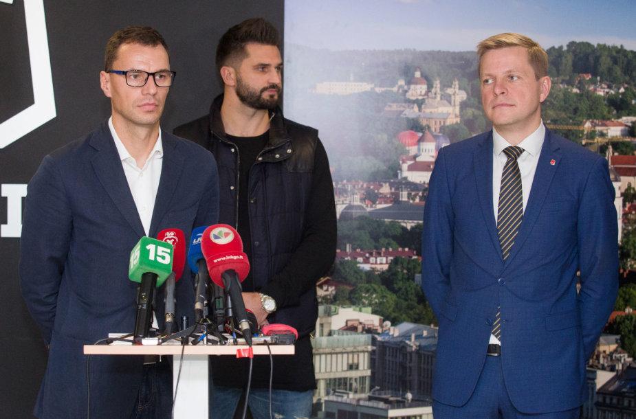 Darius Gudelis, Linas Kleiza, Remigijus Šimašius
