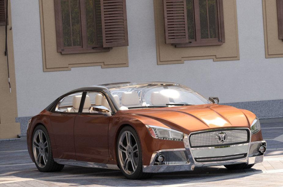 """""""GAZ model Volga 2020"""" koncepcija"""