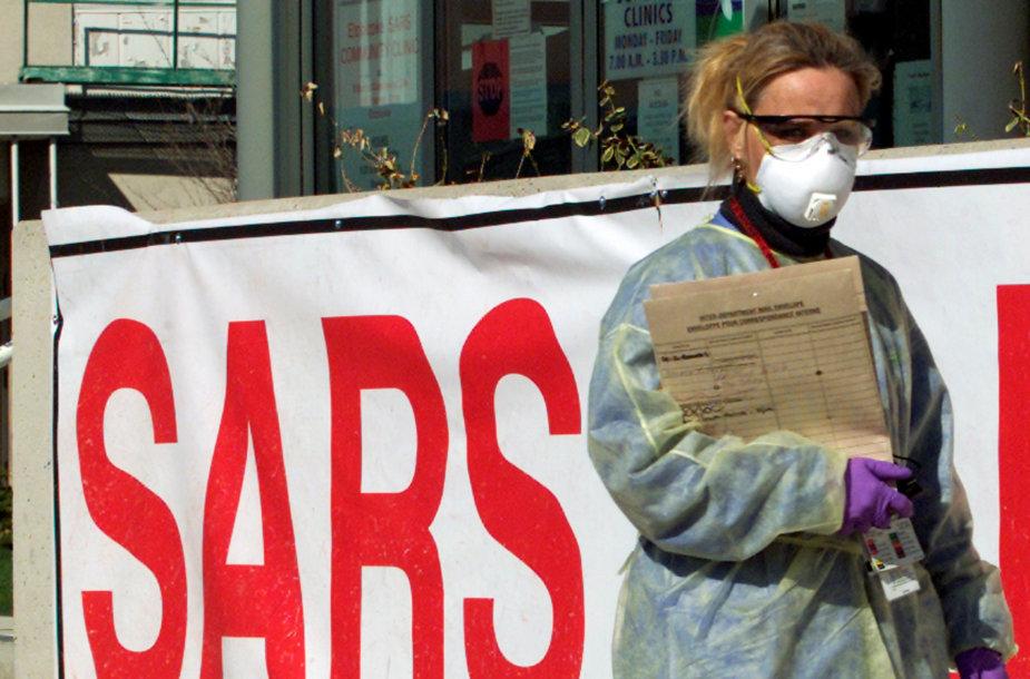 Kinijoje plinta SARS viruso atmaina