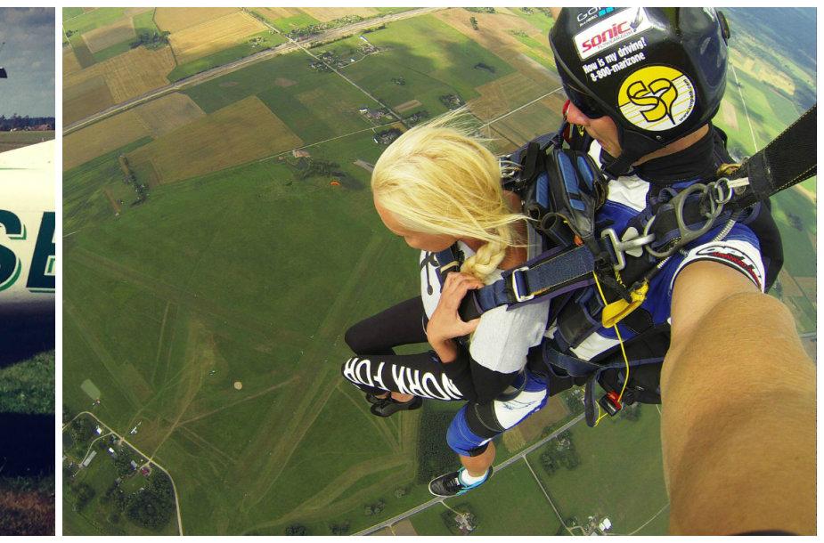 Vita Jakutienė šoko parašiutu