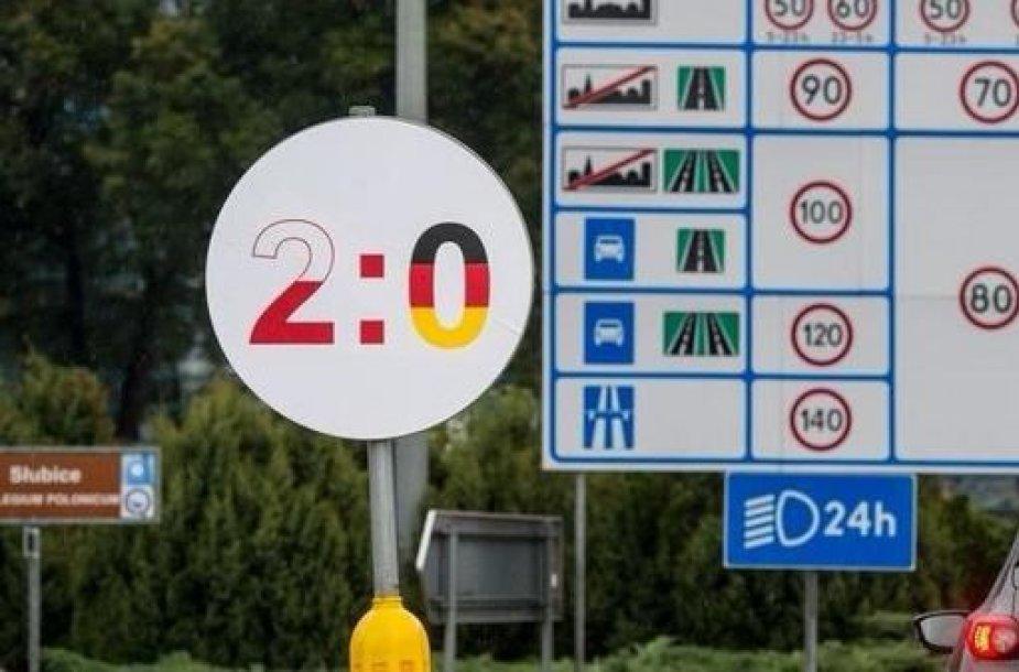 Ženklas prie Lenkijos sienos