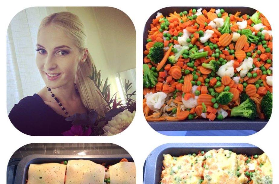 Kristina Ivanova dalijasi makaronų ir daržovių apkepo receptu