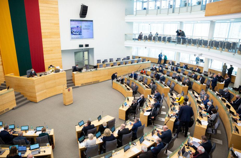 Seimo rytinis posėdis