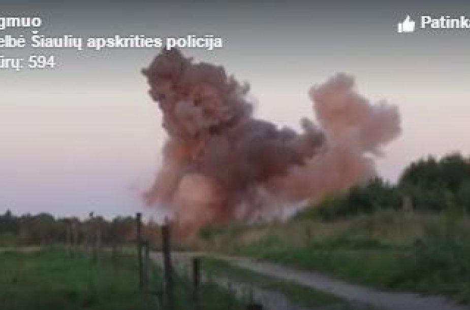 Sprogmenį išminuotojai neutralizavo karjere netoli Šiaulių