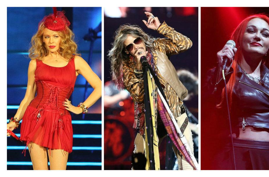 """Kylie Minogue, """"Aerosmith"""", Džordana Butkutė ir """"Antis"""""""