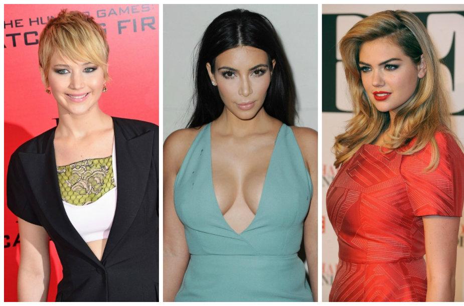 Jennifer Lawrence, Kim Kardashian, Kate Upton ir Mary Kate Olsen